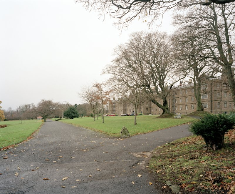 General view of main block and grounds from E