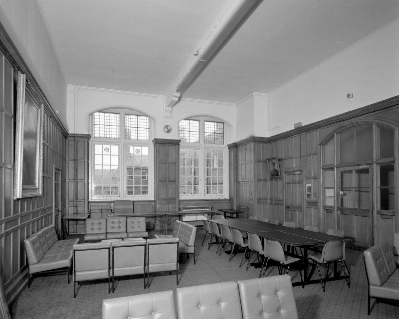 Interior. View of 1st floor staff room from W