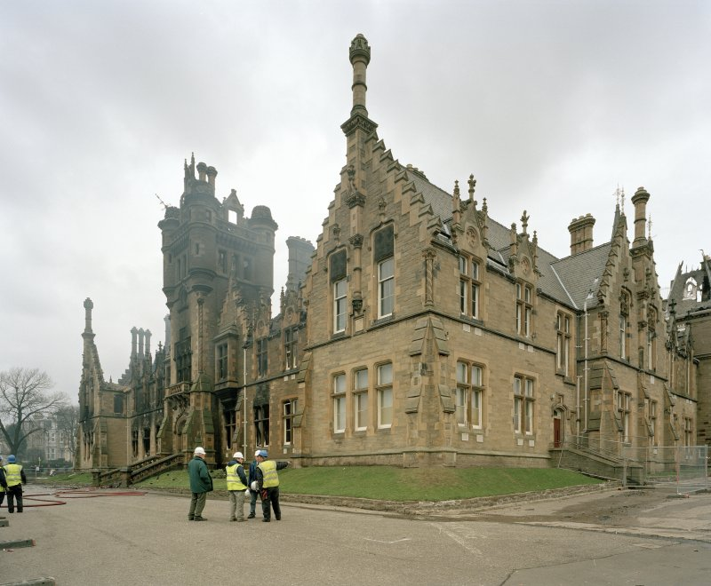 View of main block from south (after fire)