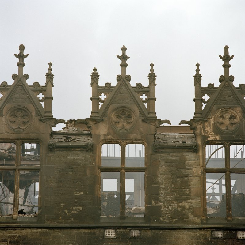 Detail of dormers on south west facade (after fire)