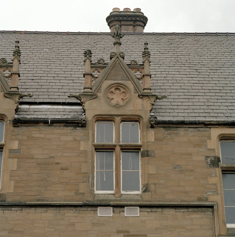 Detail of dormer at south end of south east facade