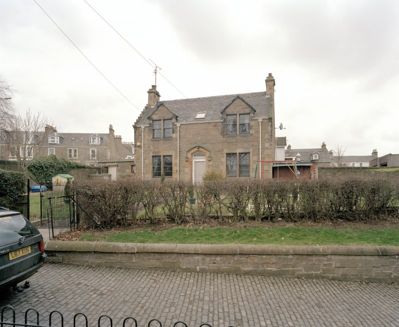 View of janitor's house from south west