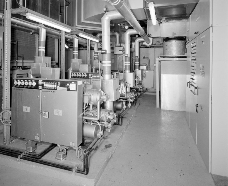 Interior. Detail of plant room.