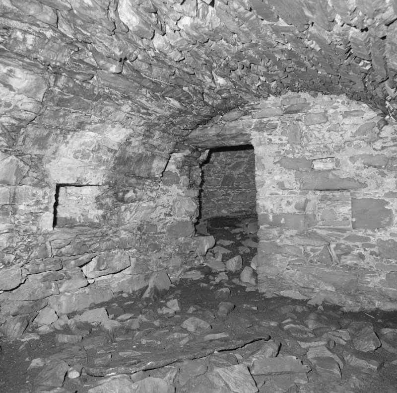 View of S groung floor vault from NE showing access to N vault.