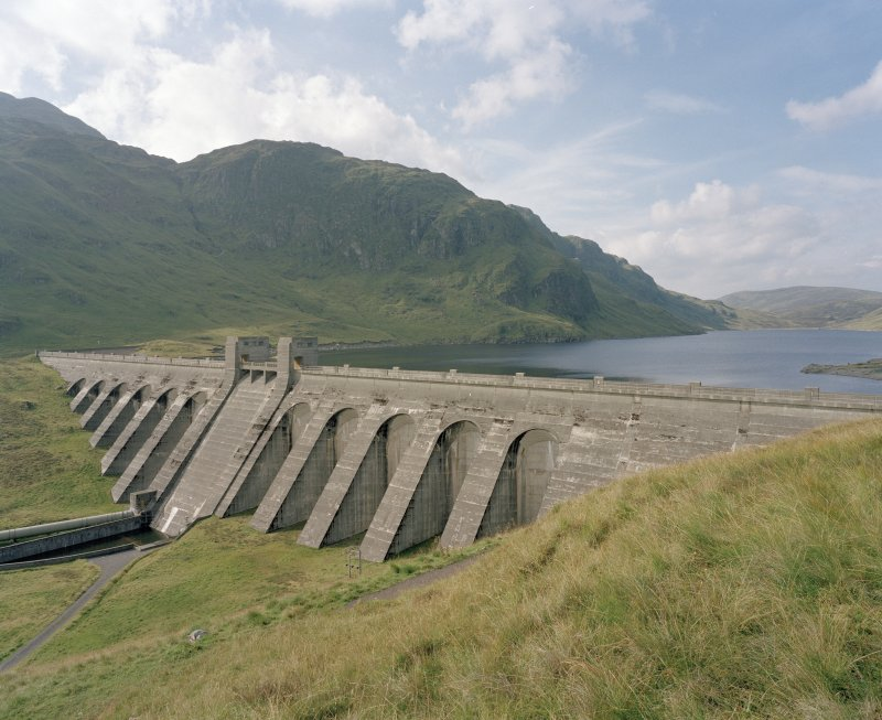View of dam from SE.