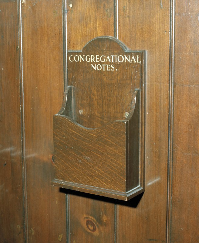 Detail of 'congregational notes' box
