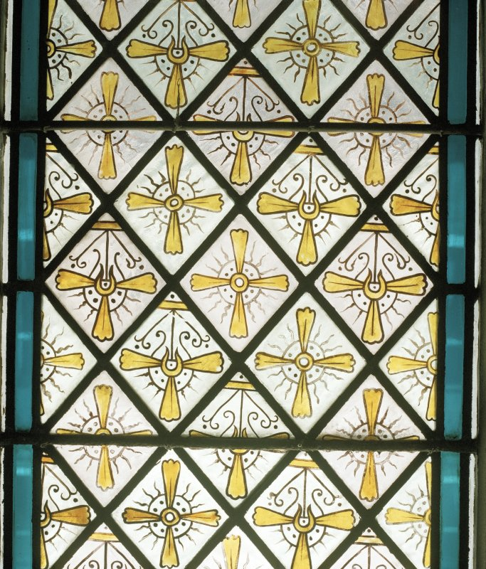 Detail of gallery stained glass window (E Side) CN Only