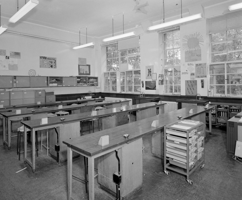 View of science laboratory