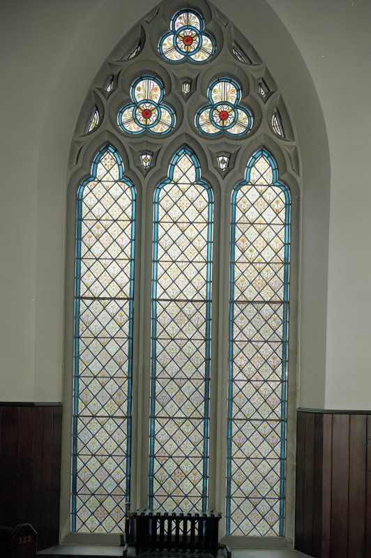 View of gallery stained glass window (NW Corner)  CN Only