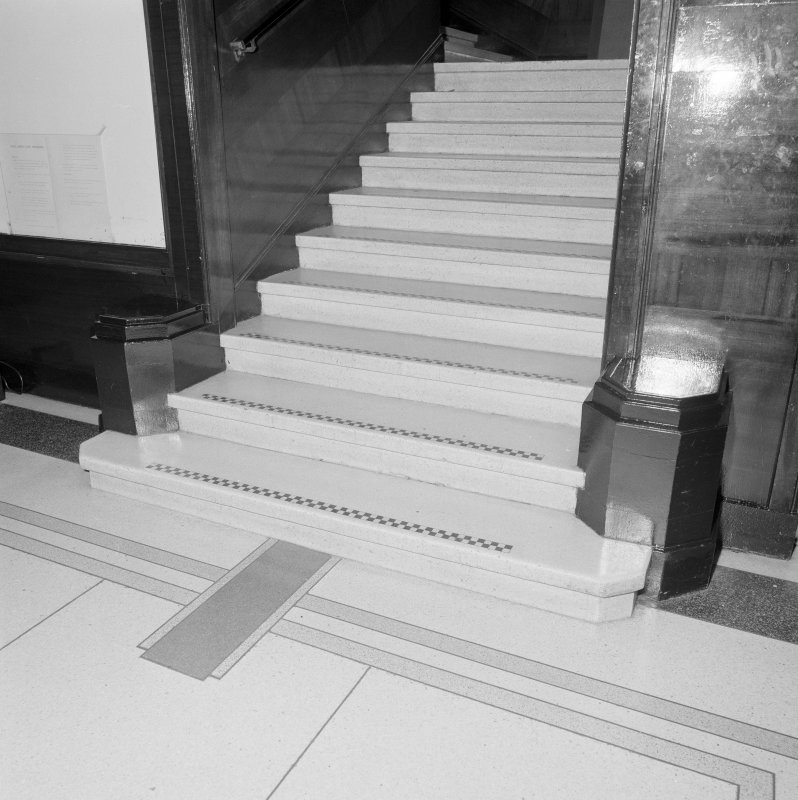Interior. Detail of stairs.