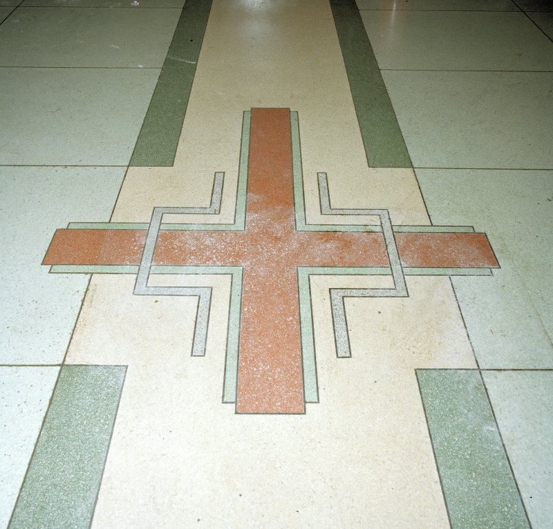 Interior. Detail of foyer floor.