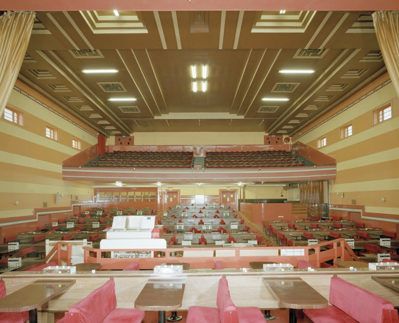Interior. View of auditorium from E.