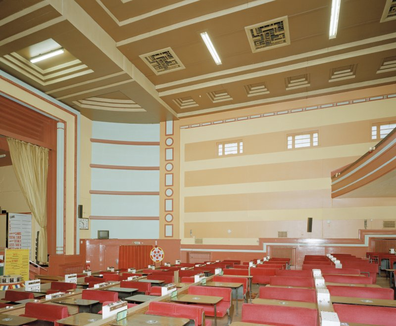 Interior. View of auditorium from N.