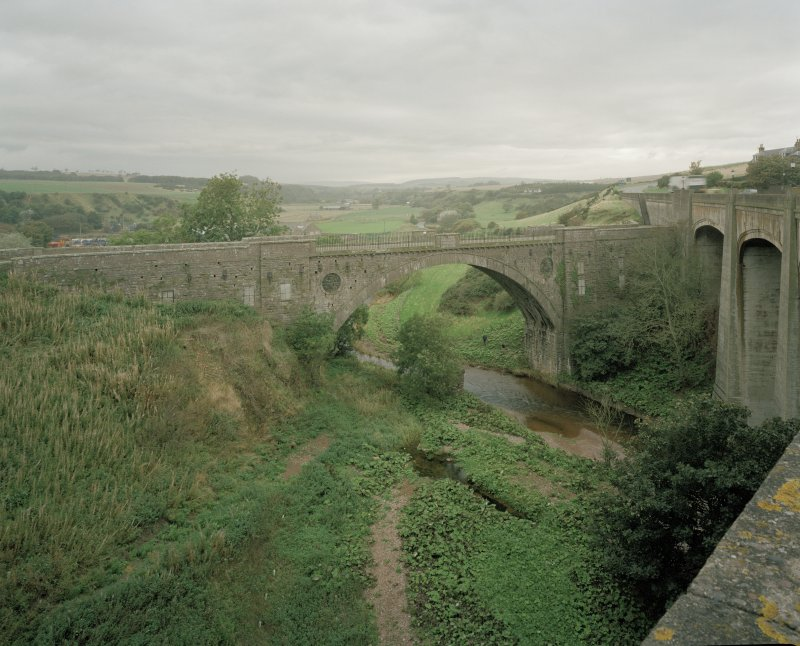 View of old bridge from SE (viewed from the Jubilee Bridge which by-passed it in 1935)