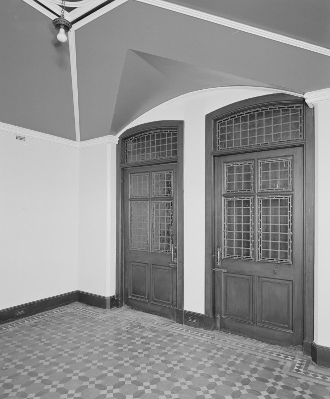 View of entrance porch from North showing minton tile floor