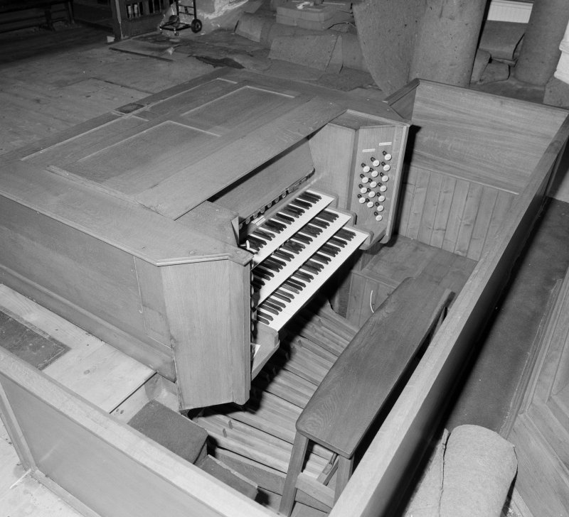 Detail of organ console