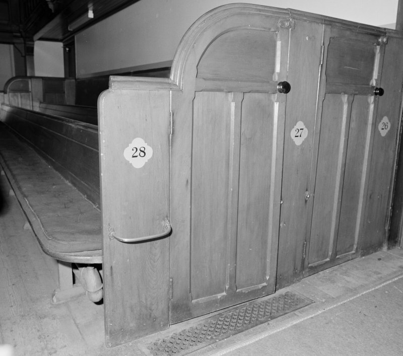 Detail of rear two box pews