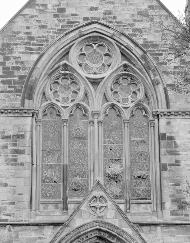 Detail of exterior of South window