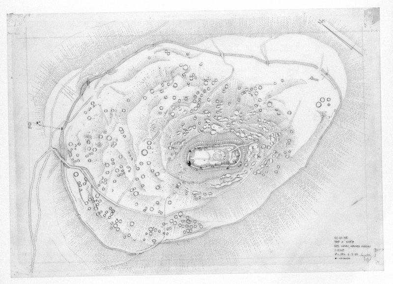 Tap O'Noth, photographic copy of drawing of the fort.