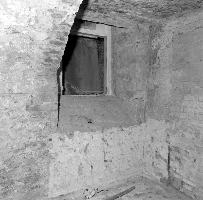Interior. Room LG-14 Detail of blocked opening