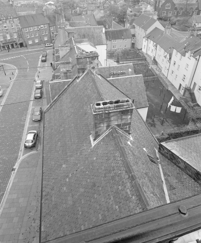 View of roof of tolbooth from North from the tower