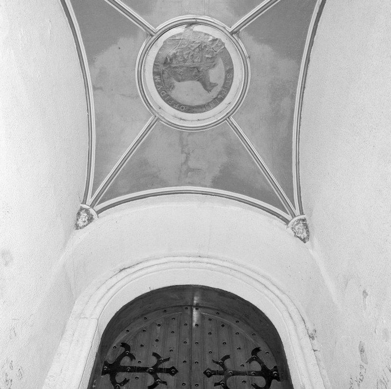 Detail of tower entrance vault