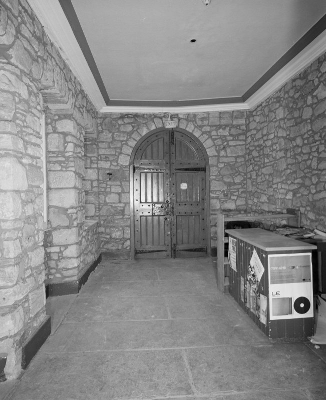 Interior. Tolbooth View of first floor tower entrance hall from West