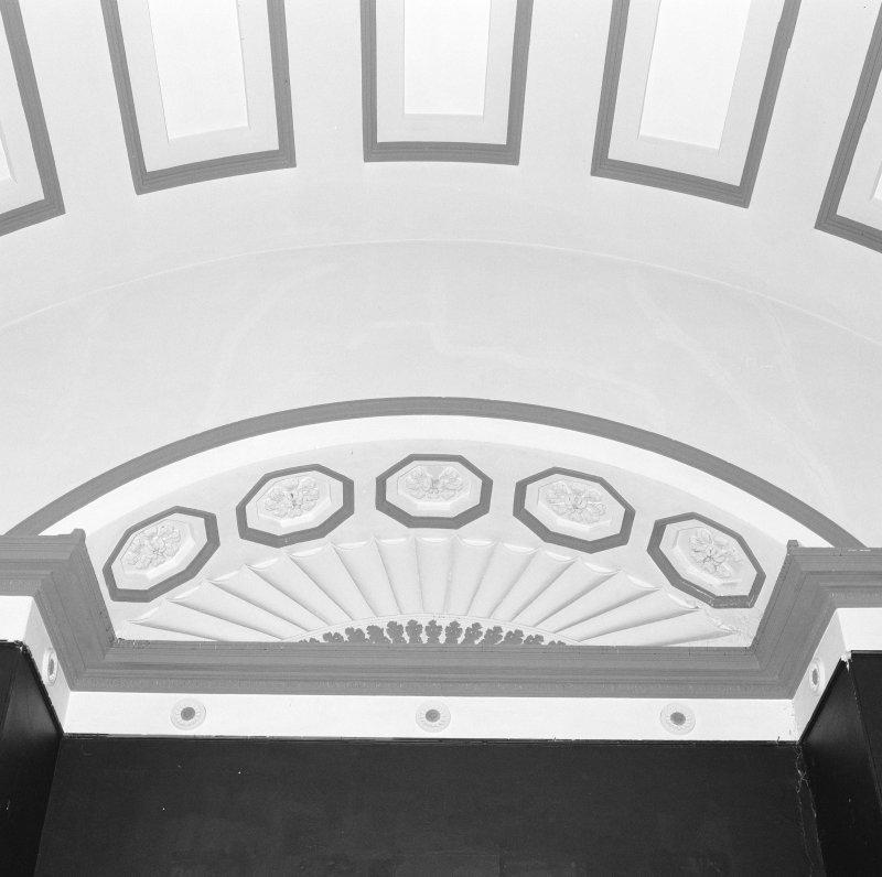 Detail of ceiling plasterwork of first floor assembly hall