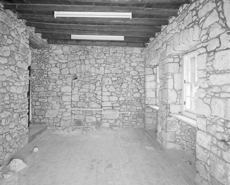 Interior. Tolbooth. View of second floor North West from East showing blocked doorway