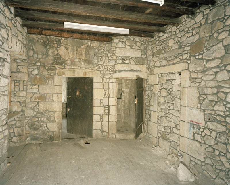 Interior. Tolbooth. View of second floor North West from West showing blocked doorway