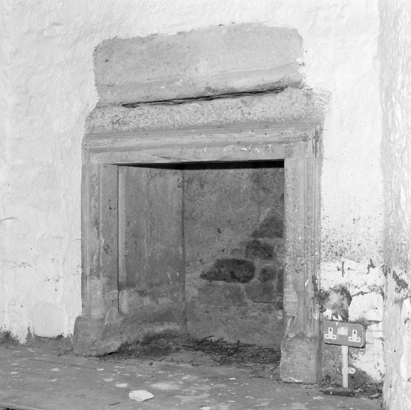 Interior. Tolbooth. Detail of second floor North East tower room fireplace