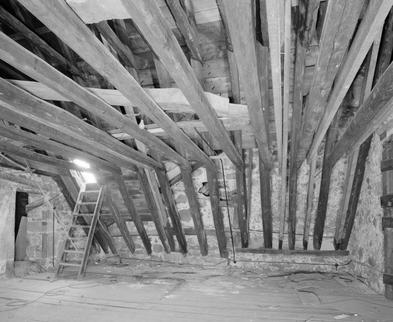Interior. Tolbooth. View of North attic space at third level from North East