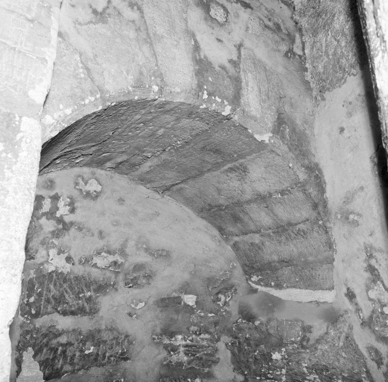 Detail of archway at head of tower spiral stair