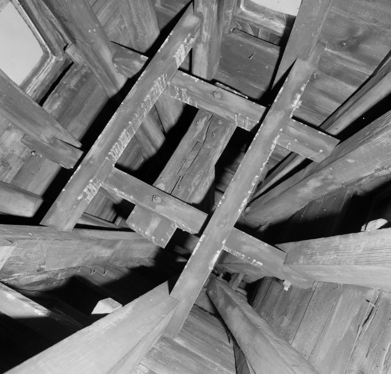 Detail of timber spire construction