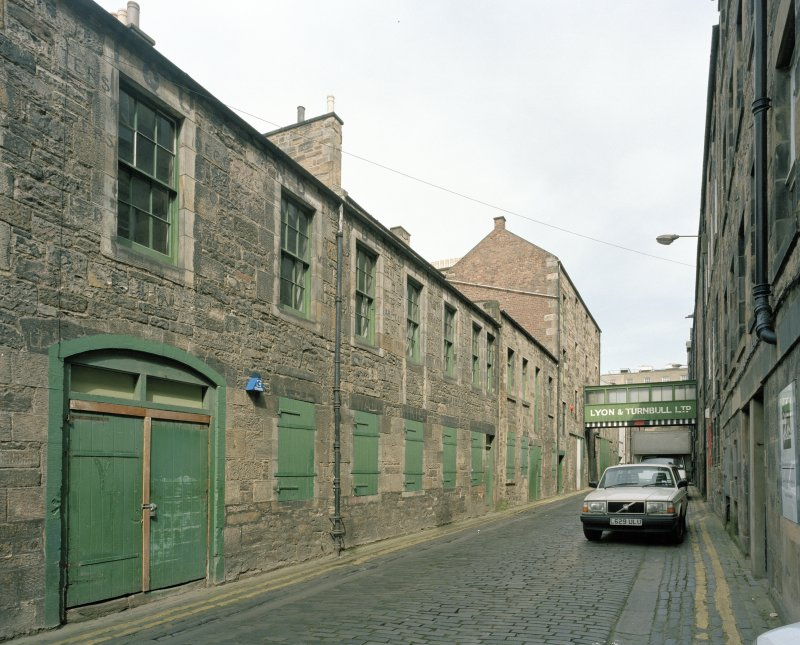 View of rear of Thistle Street building from WSW
