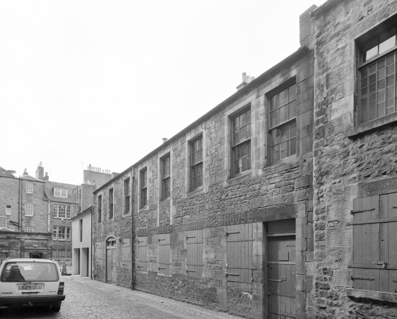 View of rear of Thistle Street building from E