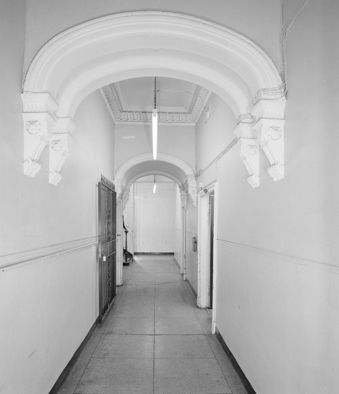 View of entrance hall from S