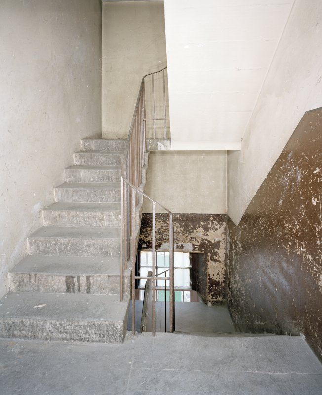 View of tenement stair to rear from S