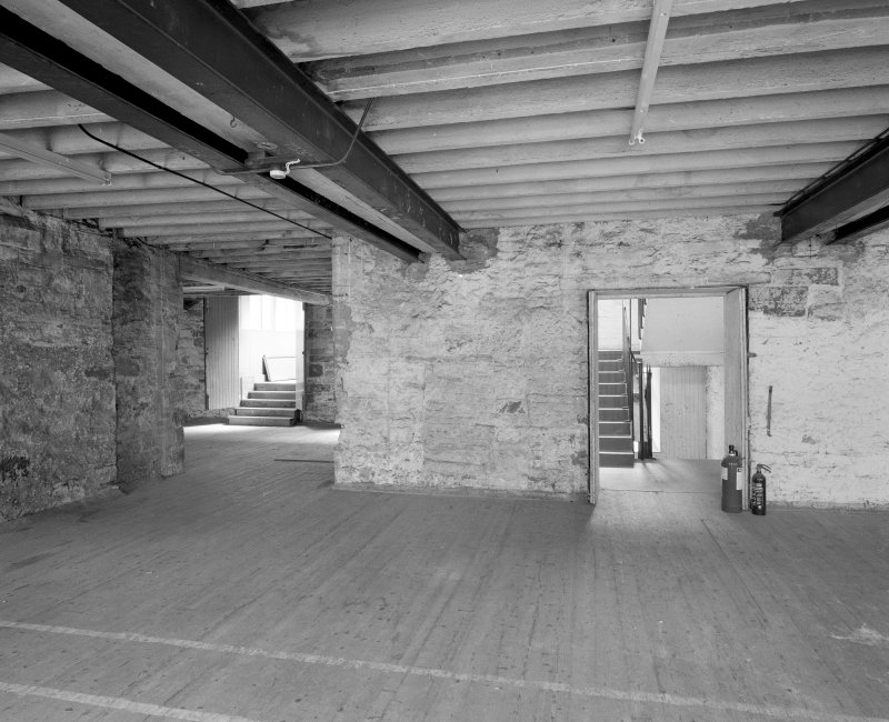 Lane buildings View of first floor from N