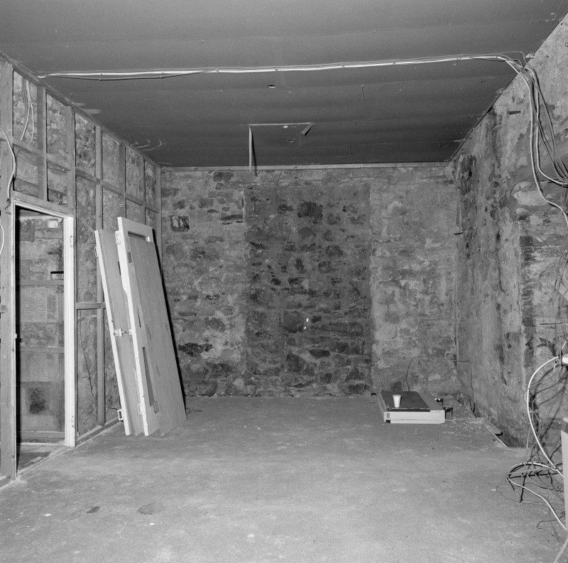 Interior. Tolbooth ground floor view of South central room from East