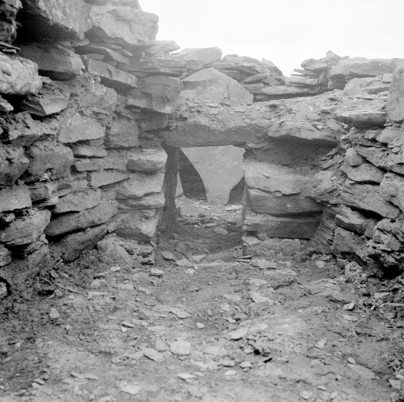 View of Ness of Burgi blockhouse interior.