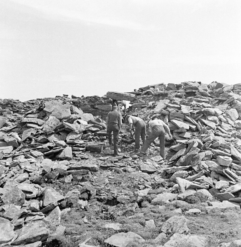 View of excavation at Ness of Burgi.