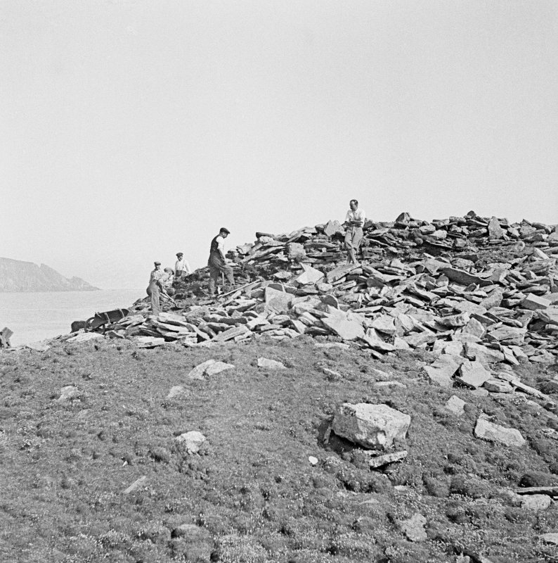 View of excavations at Ness of Burgi.