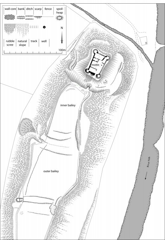 Tibbers Castle, site plan. 600dpi copy of Illustrator file GV005347.