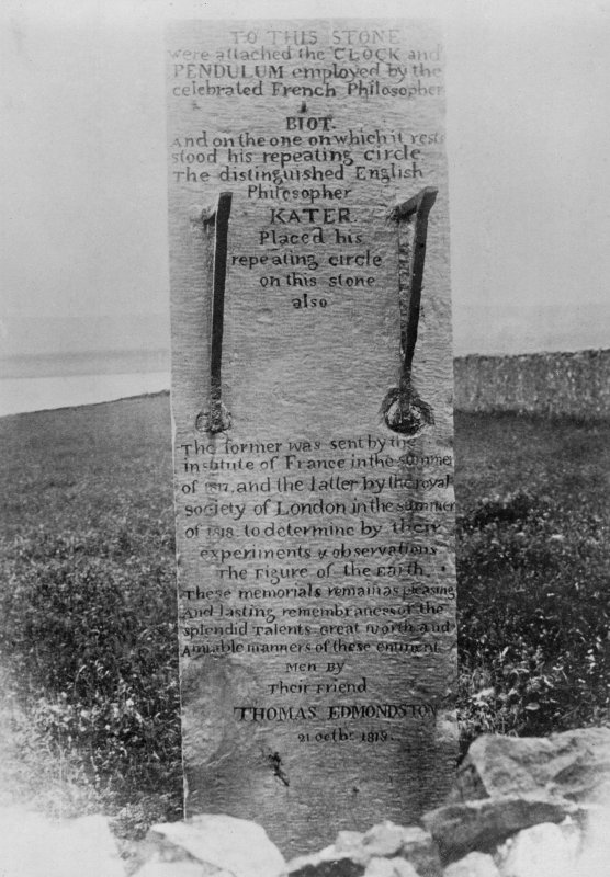 Photographic copy of memorial stone to Kater by his friend Thomas Emonston. National Buildings Record