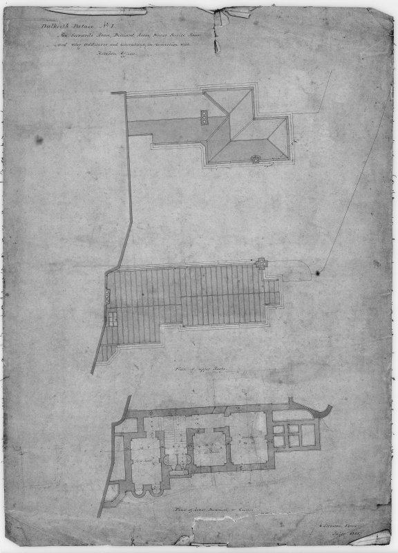 Photographic copy of drawing showing plans of new Steward's room.
