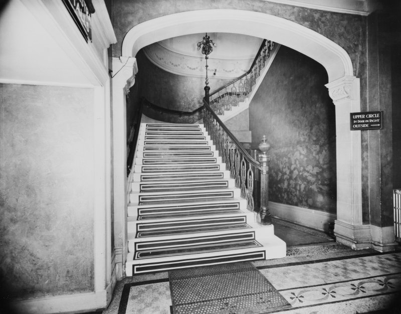 254 - 290 Hope Street, Theatre Royal, interior View of staircase to Grand Circle