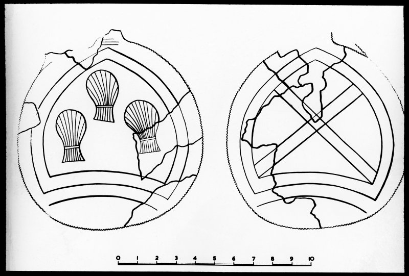 Photographic copy of drawing of excavation find.