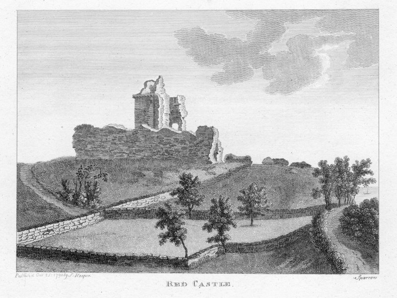 General view of Red Castle, Montrose.