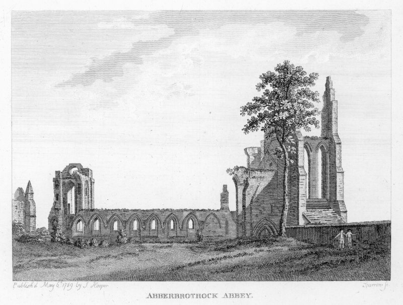 View of Arbroath Abbey.
